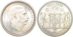 World Coins - Denmark. Christian X (1912-1947). Silver Commemorative 2 Kroner 1930. UNC