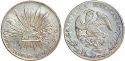 World Coins - Mexico. Republic. AR 8 Reales 1888 Go-RR. Choice XF