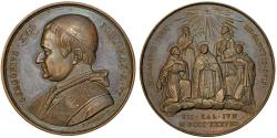 World Coins - ITALY. Papa States. Gregory XVI (1831-1846). Silver Medal (Year 9 - 1839). Choice AU