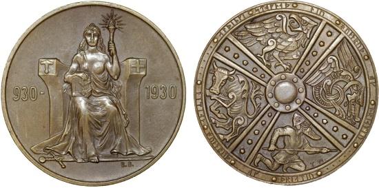 World Coins - Iceland. Republic. Three-Piece Mint Set 1930. Commemorating