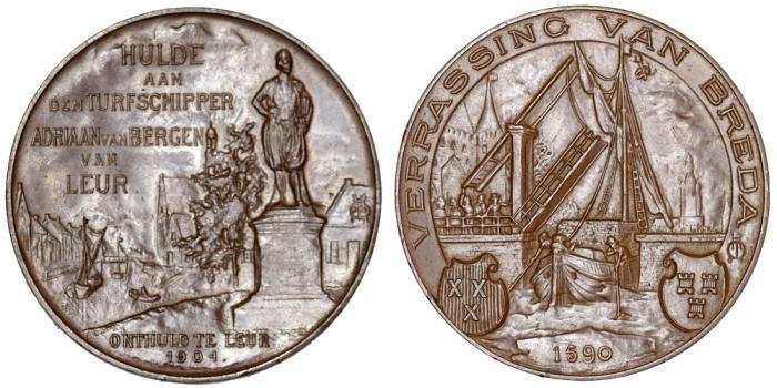 World Coins - Netherlands. Breda. Nice Bronze Medal 1904. UNC