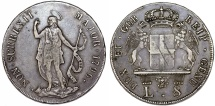 Italian States. Genoa. The Biennial Doges (1528-1797). Silver 8 Lire 1796. Choice XF, toned.