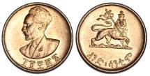 World Coins - Ethiopia. Cu 1 Cent 1936. BU
