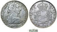 "World Coins - Mexico. AR 8 Reales 1783 FF. SHIPWRECK ""El Cazador"". ANACS VF20"