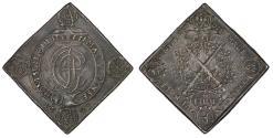 World Coins - GERMANY. Saxony. Johann Georg IV of Albertine Line (1691-1694). AR Thaler Klippe 1693. PCGS AU50, toned