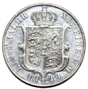World Coins - Germany. Kingdom of Hannover. Ernst August (1837-1851) Silver Scarce Thaler
