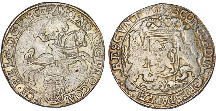 "World Coins - Netherlands. Gelderland. AR Ducaton called ""Silver Rider"" 1668. aVF, early type!"