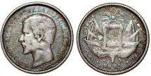 World Coins - Guatemala. Republic. AR 1 Real 1861 R. Toned Fine