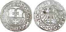 World Coins - Poland/Prussia. Elbing. king Sigismund I (1506-1548). AR Gross 1534. XF, luster, rare