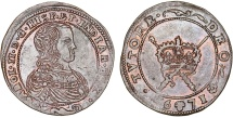"World Coins - Spanish Netherlands. Brabant. Charles II (1665-1700) Cu Token 1671. ""Confidence in Devine protection"" XF"