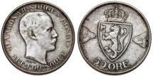 World Coins - Norway. Haakon VII (1905-1957). AR 50 Ore 1912. Choice VF