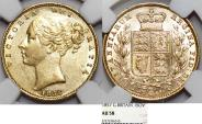 World Coins - Great Britain. HANOVER. Victoria. 1837-1901. Gold Sovereign 1857. NGC AU58