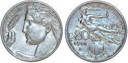 World Coins - Italy. Vittorio Emanuele III. NI 20 Centesimi 1912R. XF