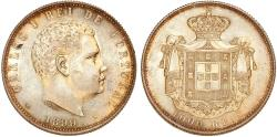 World Coins - PORTUGAL, Kingdom. Carlos I o Diplomata (the Diplomat). 1889-1908. AR 1000 Réis 1899. Nice UNC