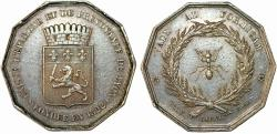 World Coins - France. Lyon. SAVINGS BANKS / CAISSES D'ÉPARGNE. Silver Jeton 1822. XF