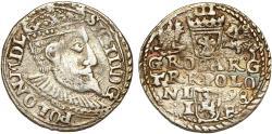 World Coins - Poland. Rzeczypospolita. Olkusz. king Sigismund III. AR 3 Gross 1598. About VF