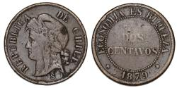 World Coins - Chile. CU 2 Centavos 1879. AVF