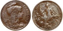 World Coins - France. Republic. AE 5 Centimes 1912. VF