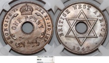 World Coins - British West Africa. George  VI. 1 Penny 1942. NGC MS63