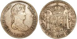 World Coins - Peru as Spanish Colony. Carlos IV (1788-1808 ). AR 8 Reales 1809 ME IJ. Choice XF