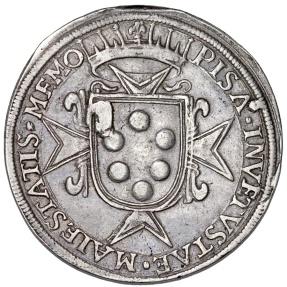 World Coins - Italian States. Pisa. Cosimo II De' Medici (1609-1621). AR Tallero 1619. Nice VF