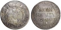 German States:  Munster. Friedrich Christian von Plettenberg. 1688-1706. AR 24 Mariengroschen 1694 JO. About VF, rare