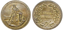 World Coins - Germany. Early Imperial Period. Game Token (Spiel-Marke) ca.1890. Nice XF