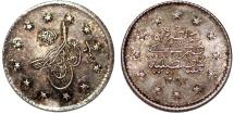 Turkey. Ottoman Empire. Abdul Hamid II. AG Kurush AD 1883 (AH 1293//9). AU, toned.
