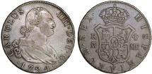 SPAIN, Reino de España. Carlos IV. 1788-1808. AR 4 Reales 1794 M-MF. Nice XF, toned