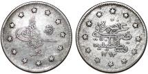Turkey. Ottoman Empire. Muhammad V. AG 2  Kurush AD 1901. VF