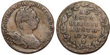 World Coins - H.R.E. Austrian Netherlands. Belgium. Maria Theresa (1740-1780). AE Liard 1778. About VF