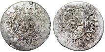 World Coins - Poland. Sweden occupation of City of Elbing. king Gustav II Adolf. Scarce AR 1/24 Taler 1633. Fine+