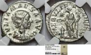 World Coins - Roman Empire. Julia Maesa (Augusta, AD 218-224/5). AR Denarius ND. NGC XF