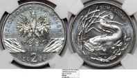 "World Coins - Poland 2 Złote 1995. ""Catfish"" NGC MS66"