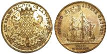 World Coins - France. Paris. Trade Token 1732 issue by Provos of Merchants Michel Turgot. Nice Choice AU