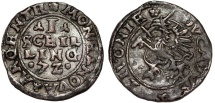 Poland. Livonia. Governor Hetman Jan Chodkiewicz. Inflant Wars. Silver Shilling 1572. Choice VF
