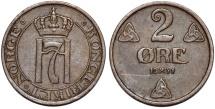 World Coins - Norway. Haakon VII. AE 2 Ore 1931. XF