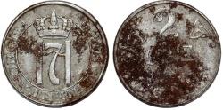 World Coins - Norway. Hakon VII (1907-1952-1907). Steel 2 Ore 1918. VF, rare
