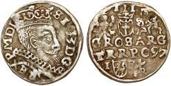 World Coins - Poland. Rzeczypospolita. (Ukraine mintage) Lublin. king Sigismund III. AR 3 Gross 1597. scarce mint