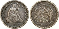 Us Coins - USA. Seated Liberty Quarter 1876. Choice VF
