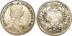 World Coins - HRE. Austria. Queen M. Theresa (1740-1780). Silver 17 Kreuzer 1753X. Choice VF