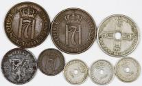 World Coins - Norway. Lot of 8 Coins 1920 -1944. VF-XF