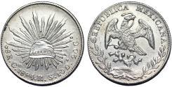 World Coins - Mexico. Republic. AR Peso 1894 Go RS. UNC