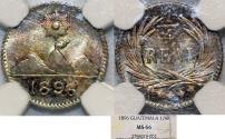 World Coins - Guatemala. Republic. AR 1/4 Real 1896. NGC MS66!