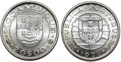 World Coins - Mozambique as Portuguese Colony. CuNi 20 Escudos 1971. BU