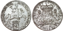 World Coins - Netherlands. Zeeland. AR Ducatone called: Silver Rider 1766. Good XF