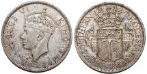 World Coins - British Southern Rhodesia. Silver ½ Crown 1944. XF+/AU