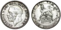 World Coins - Great Britain. George V. AR Shilling 1927. AVF