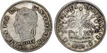World Coins - Bolivia. Republic. AR 2 Soles 1860. VF