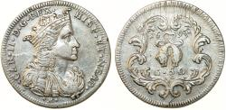 World Coins - Italy. Naples under Spain. Charles II of Spain (1665-1700). AR 1/2 Ducato of 50 Grani 1693. Choice VF